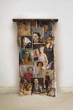 Vintage Portrait Tapestry - Anthropology  I bet you could do it! And for $1800, I would sure try!!