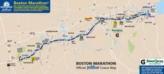 boston marathon route - Google Search