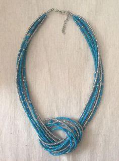 collier noeud blue neuf avec etiquette