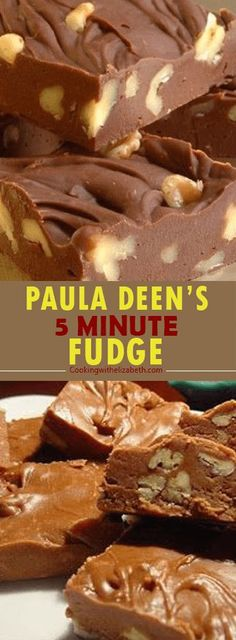 PAULA DEEN'S 5 MINUTE FUDGE Do you have a go-to dinner? A dinner that you can make and you know everyone will love it and it will turn out delicious each time. Fudge Recipes, Candy Recipes, Chocolate Recipes, Cookie Recipes, Chocolate Fudge, Chocolate Tarts, Holiday Recipes, Snacks Recipes, Pastry Recipes