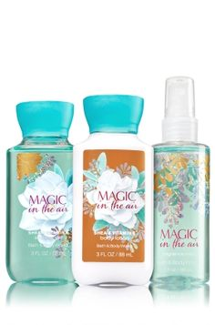 Magic in the Air - Travel Size Daily Trio - Signature Collection - Bath & Body Works - Carry all 3 steps of our Daily Trio wherever you go! Set includes convenient travel sizes of our super-lathering Shower Gel, hydrating Body Lotion & nourishing Fine Fragrance Mist. It's the perfect way to add a little luxury to your day!