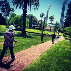 Queens gardens, Perth CBD #nordicwalking