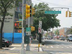 Ocean Parkway and Church Avenue Brooklyn NY. I know it well. Brooklyn Image, Brooklyn Nyc, Brooklyn Neighborhoods, Missing Home, Ny Ny, Snow Cones, Urban Legends, The Old Days, Coney Island