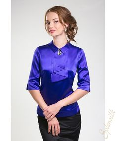 Purple Satin, Ruffles, Long Sleeve, Sleeves, Tops, Women, Fashion, Moda, Long Dress Patterns