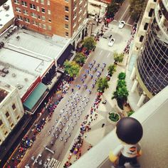 HostDime Alex overlooking the citrus parade in downtown Orlando