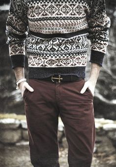 vintage sweaters. i absolutely love the belt!