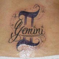 Zodiak Tattoo Sample : Gemini Tattoo Sample