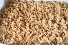 Spread brown sugar cinnamon crumb over apple coffee cake and bake from Serena Bakes Simply From Scratch. Apple Coffee Cake with Cinnamon Brown Sugar Crumb recipe from Serena Bakes Simply From Scratch. Apple Cake Recipes, Snack Recipes, Dessert Recipes, Cooking Recipes, Desserts, Crumb Recipe, Apple Coffee Cakes, Chewy Peanut Butter Cookies, Breakfast For Dinner