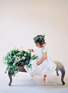Flower girl idea by Easton Events photographed by Jose Villa.