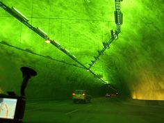 The worlds longest road tunnel  Travelling from Laerdal to Aurland in Norway 15.2 miles – 15.2 miles of tunnel through mountains nearly 6000 feet high! The tunnel cost a whopping US 125 million and was built to combat the heavy winter snowfalls that caused havoc with Norwegian commuters.