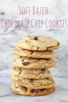 Soft Batch Chocolate Chip Cookies with 2 secret ingredients for making ultra tender and soft cookies from handletheheat.com