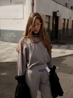 """""""Something I Couldn't Finish"""" - Teeth Online x Teeth Magazine  Photographer: Stephen Maycock Styling: Yi Ng Model: Mary at Wilhelmina Styling Assistant: Lucia Dunlap  Tracksuit A Cold Wall*, Sleeves Ellery, Choker Ella Maximillion"""
