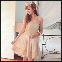 Mango Doll - Golden Lace Tube Dress , $66.00 (http://www.mangodoll.com/new-arrivals/golden-lace-tube-dress/)
