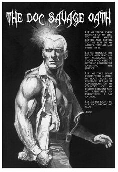 Doc Savage by Neal Adams Science Fiction Books, Pulp Fiction, Comic Book Characters, Comic Books, Famous Monsters, Marvel Comic Universe, Alley Cat, Pulp Magazine, Tough Guy