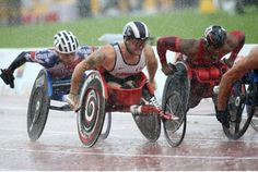 Canada's Joshua Cassidy races in the men's 5000M T54 during Parapan Am Games action on Monday. Cassidy ended up winning the silver medal.