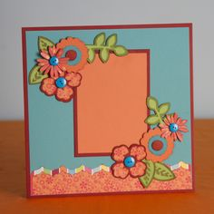 Create this flower scrapbook layout with this Essentials cartridge! #cricut