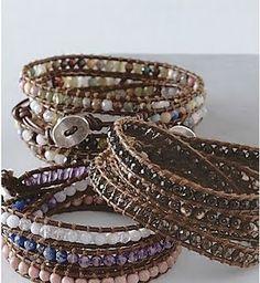 DIY bracelets Chan Luu Inspired Wrap Bracelet DIY Tutorial Sofa Slipcovers - The Quick And Easy Make Armband Tutorial, Wrap Bracelet Tutorial, Diy Tutorial, Beads Tutorial, Photo Tutorial, Leather Jewelry, Beaded Jewelry, Handmade Jewelry, Beaded Bracelets