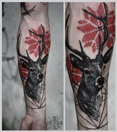 Redberry Tattoo Studio Wrocław #tattoo #inked #ink #studio #wroclaw #warszawa #tatuaz #gdansk #redberry #katowice #poland #krakow #berlin #germany #graphic #dark #timur #lysenko #jelen #deer #red #geometric