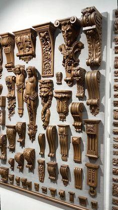 Front Door Design Wood, Wooden Door Design, Pooja Room Door Design, Door Design Interior, Wood Carving Designs, Wood Carving Art, Carved Wood Wall Art, Wood Art, Wooden Corbels