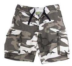 Vintage Camo Shorts City Camo Vintage Cargo Shorts Camouflage Shorts $30.21
