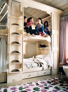 bed frame Bunk beds with a slide. It'll be fun getting out of bed in the morning. bunk beds awesome bed room L. Bunk Beds Built In, Kids Bunk Beds, Awesome Bedrooms, Cool Rooms, Small Rooms, Kids Rooms, My New Room, My Room, Mini Loft