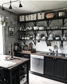 If you are looking for Industrial Kitchen Decor, You come to the right place. Here are the Industrial Kitchen Decor. This post about Industrial Kitchen Decor was . Industrial Kitchen Design, Interior Design Kitchen, Industrial Interiors, Kitchen Designs, Vintage Industrial, Home Decor Kitchen, Diy Kitchen, Kitchen Ideas, Kitchen Inspiration