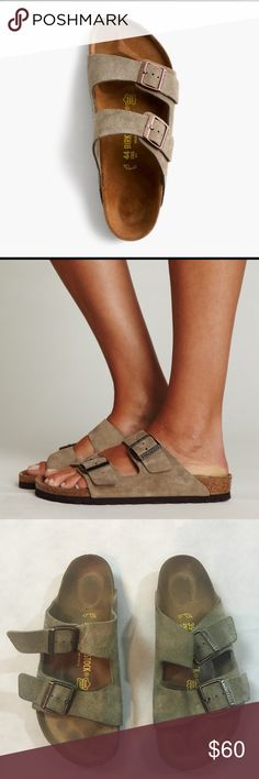 Birkenstock Sandals Arizona Suede Sandals with Double Straps in Great Condition. Smoke and Pet Free Home Reasonable Offers are welcome.                      Please look at the photos for the Condition of this shoes Birkenstock Shoes Sandals