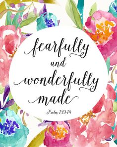 Fearfully and Wonderfully Made Printable INSTANT by CraftMei