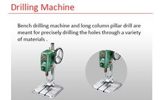 make deep hole sinto metals or other objects withDrilling machine