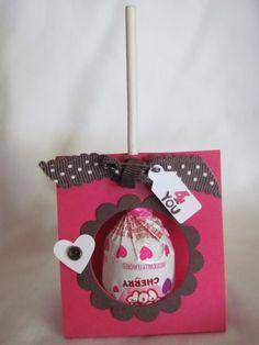Cute lollipop holder by Jamie Hurley