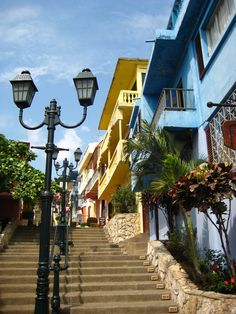 Las Penas District in Guayaquil, Ecuador. Been!! City without streets. Only way to get up and down are stairs. Climbed all the way to the top. Beautiful views.