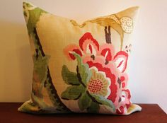Schumacher Khantau Tree Cushion Cover 20 inch by Aurelia6311 LR pillows-love it