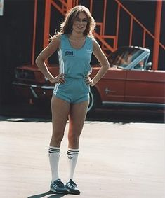 The Dukes Of Hazzard Photo: Catherine Bach modeling Classic Tv, Classic Beauty, Hottest Female Celebrities, Celebs, Kristy Mcnichol, Mustang Girl, Catherine Bach, General Lee, Old Hollywood Stars