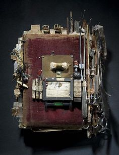 Book # 3  by Ron Pippin  Mixed media