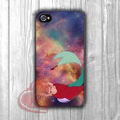 Ariel Mermaid Galaxy - zd for iPhone 4/4S/5/5S/5C/6/6+s,Samsung S3/S4/S5/S6 Regular/S6 Edge,Samsung Note 3/4