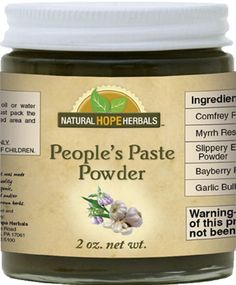 PEOPLE'S PASTE Herbal Wound Healing Powder Made From 5 Natural Herbs