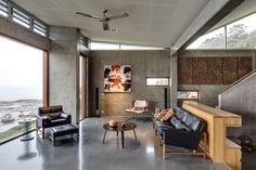 New South Wales House by Shelley Indyk | concrete post and beam structural system + concrete walls, floors and ceilings