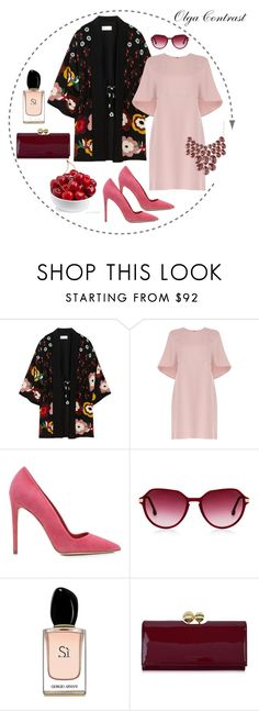 """""""16.08.2016"""" by olgacontrast on Polyvore featuring мода, RED Valentino, Valentino, Dee Keller, Armani Beauty, Ted Baker и Charlotte Russe"""