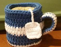 coffee/tea mug puff stitch toilet paper cover