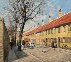 Paul Gustave Fischer - Copenhagen Street