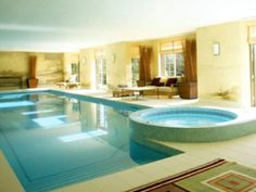 Indoor swimming pool and jacuzzi. A girl can dream. :)