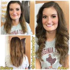 Our Chestnut Brazilian Weft Extensions|HairSplendor.com|Styled by us! Before After Hair, How To Make Bed, Beauty Supply, Extensions, Hair Beauty, T Shirts For Women, Style, Fashion, Swag