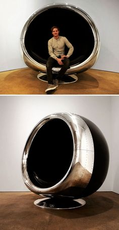 awesome 10+ Badass Furniture Pieces Made From Old Airplane Parts
