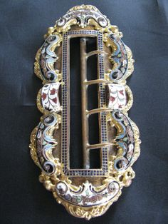 Original LARGE Victorian Enamel Belt Buckle by victoriansentiments, $98.00