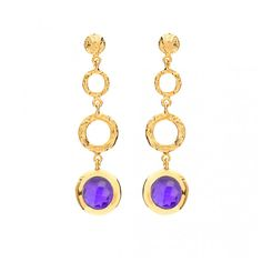 Jewellery & Gifts from Lola Rose, Dogeared, Daisy London, Satya, Bombay Duck and many more. Daisy London, Lola Rose, Jewelry Gifts, Amethyst, Hoop Earrings, Colour, Personalized Items, Purple, Gold