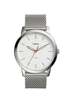 3177bfd368c Fossil FS5359 Men s Minimalist Slim Silver Stainless Steel Mesh Dress  Watch. Product sold by eBay