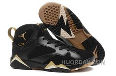 99fb9ddb4427 Women Jordan 7 GS Gold Medal – Black Metallic Gold H6WZZ