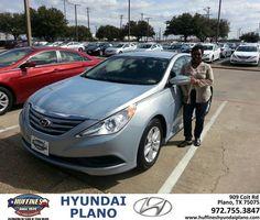 #HappyAnniversary to Charlene Boykin on your 2014 #Hyundai #Sonata from Everyone at Huffines Hyundai Plano!