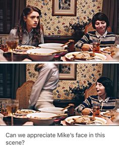 He doesn't consider it a true victory unless Nancy leaves this is every sibling fight ever, the face is so accurate Stranger Things Fotos, Stranger Things Have Happened, Stranger Things Aesthetic, Stranger Things Funny, Stranger Things Season, Stranger Things Netflix, Ketchup, Saints Memes, Stranger Danger