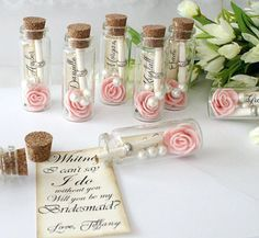 Will you be my bridesmaid message in a bottle Bridesmaid